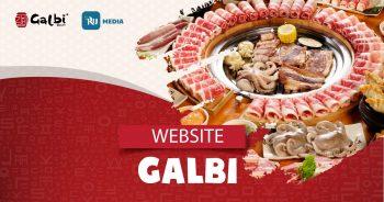 thiết kế website Galbi House